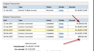 Paypal Scammed Indian Paypal users With Reversed Transaction fees