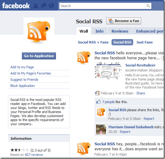 socialRSS 8 Very Useful Facebook Apps For Bloggers