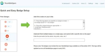 How to Add Stumbleupon share button on your blog