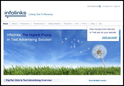 infolinks Best Google Adsense Alternatives