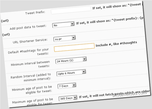 Tweet Old Post WordPress Plugin : Auto Tweet Old WordPress Posts