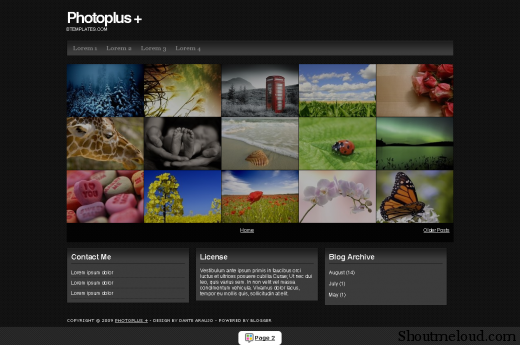 Aviary photoplus btemplates blogspot com Picture 1 520x345 Best Free and Professional Photo blog Templates for Blogspot