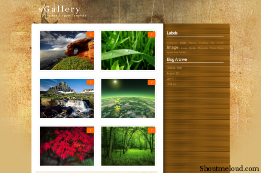 Aviary sgallery template blogspot com Picture 11 520x345 Best Free and Professional Photo blog Templates for Blogspot