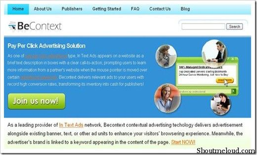 Becontext 5 Best In Text Advertising Program for Bloggers