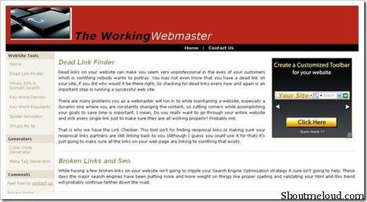 DeadlinkChecker 5 Free Broken Link Checker Websites