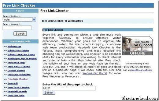 Freelinkchecker 5 Free Broken Link Checker Websites