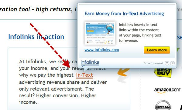 IN Text Advertising 5 Best In Text Advertising Program for Bloggers