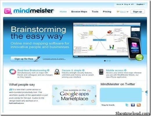 Mindmiester 5 Free Mind Mapping Web Applications