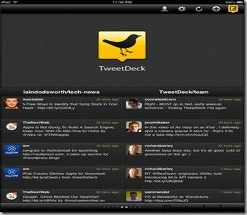 TweetdeckiPad thumb 2 Free iPad Applications for Bloggers