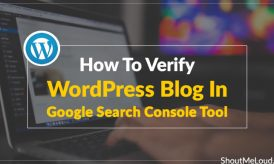 How To Verify WordPress Blog In Google Search Console Tool