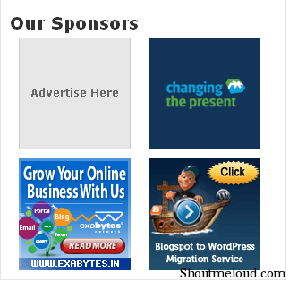 Add Advertisement to Blog