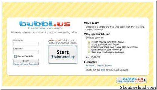 bubbl.us  5 Free Mind Mapping Web Applications