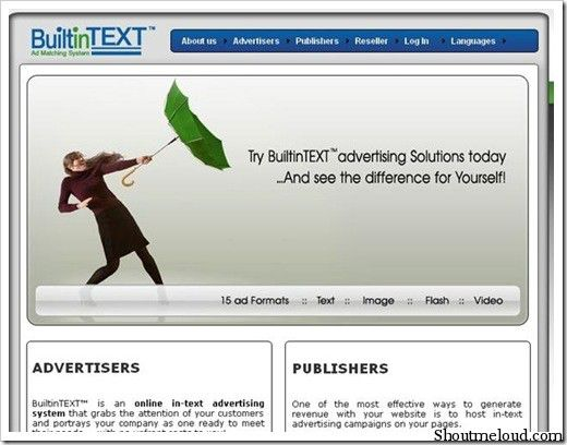builtintextAds 5 Best In Text Advertising Program for Bloggers