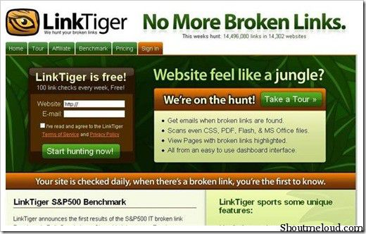 linktiger 5 Free Broken Link Checker Websites