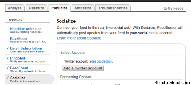 twitterburner How to Auto Tweet your blog Post using Google Feedburner