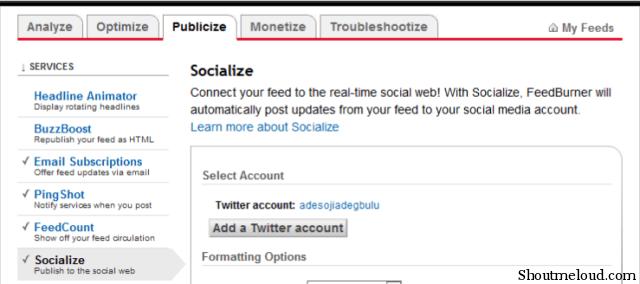Twitter and Feedburner