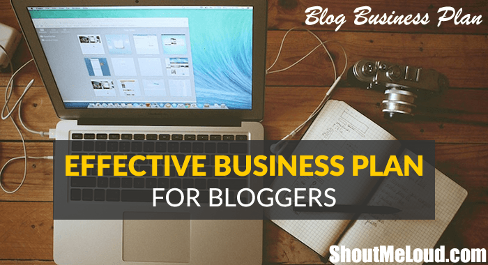 How to write a business plan for blogging