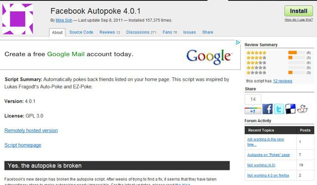 Facebook Auto poke script 10 Facebook Tips and Tricks That You Should Know
