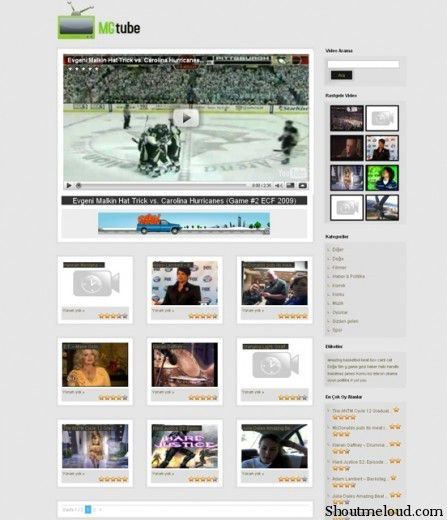 MG Tube Free Theme 447x520 7 Wonderful & Free WordPress Video Themes