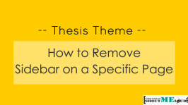 Thesis Theme: How to Remove Sidebar on a Specific Page