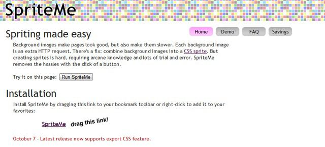 Sprite me: Online CSS Sprite Generator