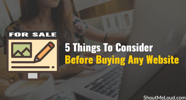Things To Consider Before Buying Any Website