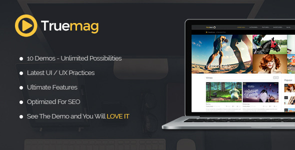 Truemag Video template