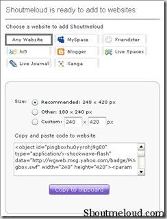 addwidgetpingbox thumb How to Add Yahoo Chat box Into your Blog : PingBox