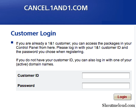 cancel1and1 How to Transfer 1and1 Domain after One Year