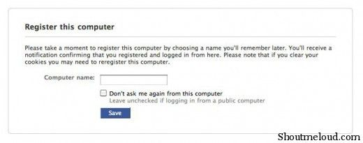 Facebook: New Facebook Login Account Security Settings
