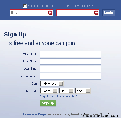 Facebook com log in or sign up