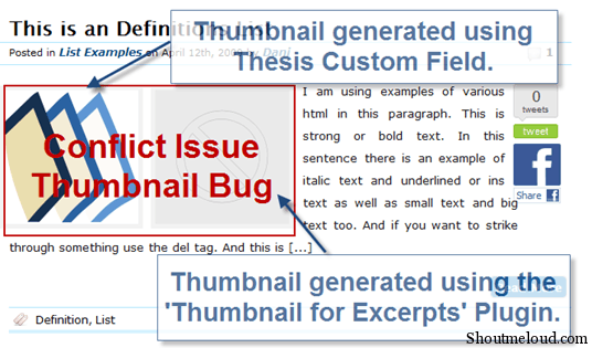 image thumb16 How to Automatically Show Thumbnail Images to Post Excerpts in Thesis Wordpress Theme
