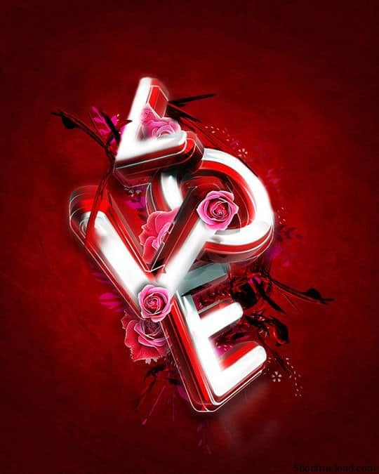love 5 Amazing Photoshop Text Effects