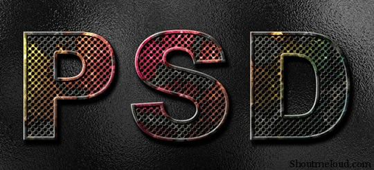 psd 5 Amazing Photoshop Text Effects