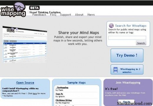 wisemapping 520x362 5 Free Mind Mapping Web Applications