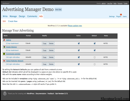 Advertising Manager WordPress Plugin to Manage All Your Blog Ads