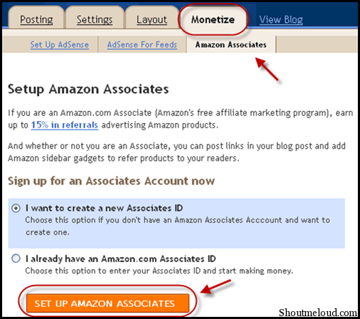 AmazonSetup BlogSpot Amazon Integration: How to Monetize