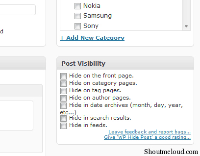 Post Visibility How to Hide Articles from Home Page in WordPress Blogs