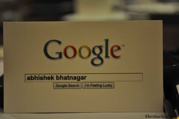Business Card Abhishek Bhatnagar