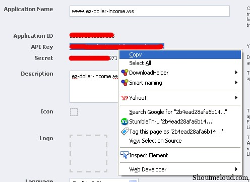 fb application key03 How to Acquire Your Facebook API Key