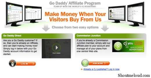 godaddy affiliate program 520x268 How to Signup for Godaddy Affiliate Program