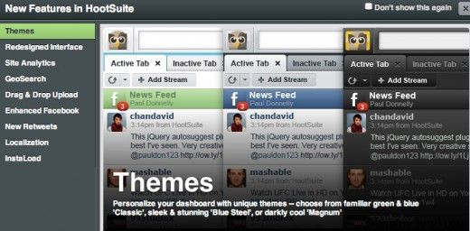 hootshuie themes 520x256 Hootsuite Social Media Web Client Added 9 new Features