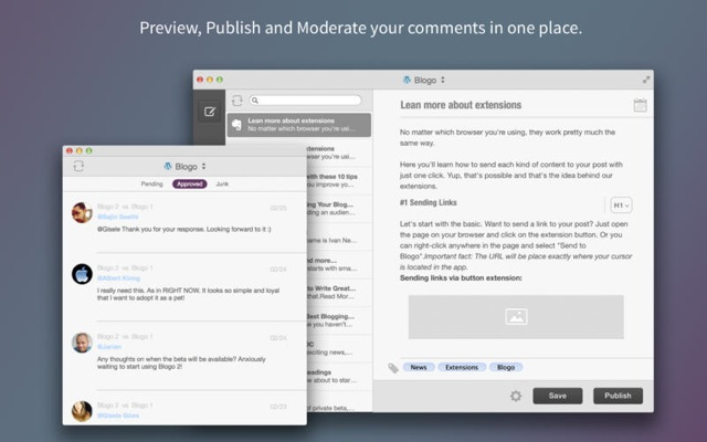 moderate WordPress comments desktop