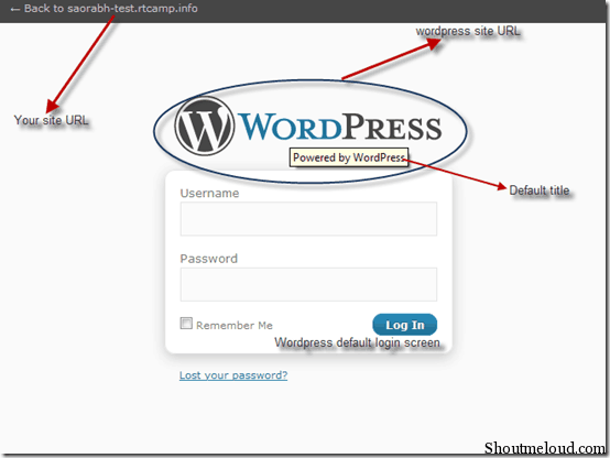 wordpressdefaultloginscreen thumb1 How to Customize The Default Wordpress Login Screen