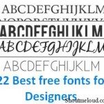 22 best free fonts for designers 150x150