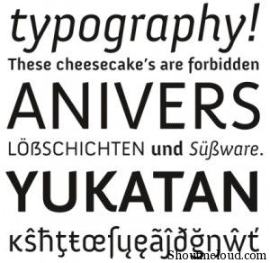 Anivers font
