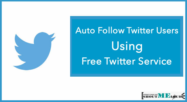 Auto Follow Twitter Users