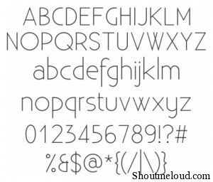 Existence Light font 300x256 22 Best free fonts for Designers