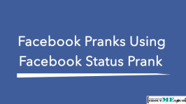 Facebook Pranks Using Facebook Status Prank