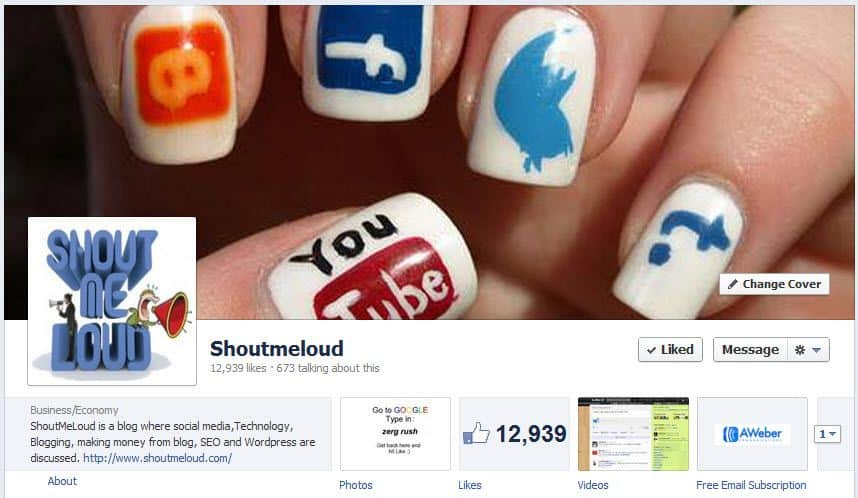 Facebook Profile Cover image Timeline
